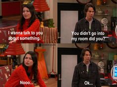 iCarly :D i love this show. Too bad it ended. It was hilarious! Funny Cute, The Funny, Hilarious, Icarly And Victorious, Drake And Josh, Nickelodeon Shows, Childhood Tv Shows, Comedy, Fandoms