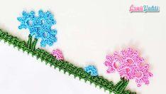 Saplı Çiçek Tığ Oyası Yapılışı Videolu Anlatımlı #moda #hobi #hobby #örgü #elişi #kadın #handmade