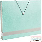 Martha Stewart Home Office™ with Avery™ Shagreen Accordion File Blue, 9 Tabs, 10 Pockets