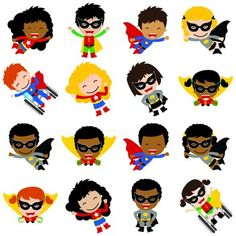 Welcome to Schoolgirl Style! Embrace all the powerful Superheroes in your life with our Multicultural Superhero Cut Outs from Schoolgirl Style!  These heroic cut-outs are the perfect addition to any space!  50 different cut-outs to choose from in several different cultures - these include male, female, wheelchair, and more!