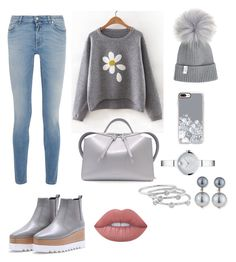 """""""Gray"""" by kameliya-6711 ❤ liked on Polyvore featuring Givenchy, Jil Sander, Movado, Casetify, Kenneth Jay Lane, London Road and Lime Crime"""