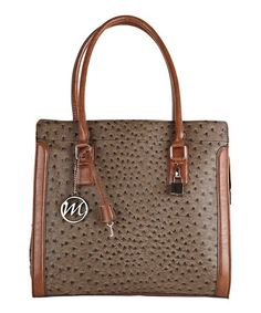 Take a look at this Mink & Cognac Lorri Briefcase Tote by emilie m. on #zulily today!