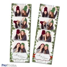This Christmas photostrip photo booth template is the traditional 2x6 inch size. It's framed on the sides by evergreen branches and has vintage, white wooden planks at the very back of the layout. This design has both a vintage, rustic country, and modern look to it. Christmas Photo Booth, Christmas Photos, Christmas Templates, Planks, Postcard Size, Evergreen, Branches, Layout Design, Layouts