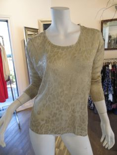Animal Print Foiled Sweater by Sisters | SaVvy | Retail Therapy