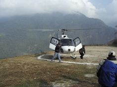 Annapurna Helicopter tour in Nepal.