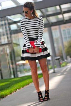 10 Ways To Wear Stripes On Stripes | theglitterguide.com