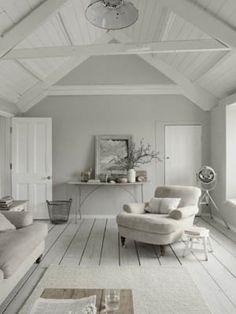 Leuke woon ideeën en sferen - Mooi en fris wit met licht grijs!