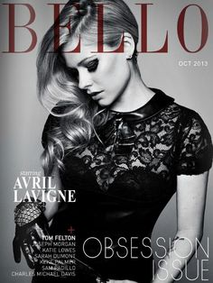 Avril Lavigne is on the October issue of Bello Mag! Read more here:   http://www.bellomag.com/    Don't forget to pre-order her self-titled album: iTunes.com/AvrilLavigne