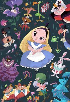 Disney WonderGround Gallery Alice in Wonderland Postcard by Bill Robinson NEW Alice In Wonderland Characters, Alice In Wonderland Party, Adventures In Wonderland, Disney Amor, Cute Disney, Disneyland, Animation Disney, Chesire Cat, Wallpaper Iphone Disney