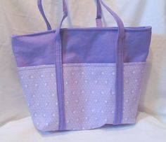 Purple Tote Bag with Pockets   by Lucary