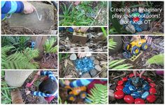 Creating an imaginary play space outdoors! Your Kids OT