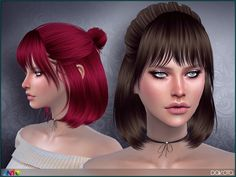Sims 4 Hairs ~ The Sims Resource: Dakota hair by Anto - Modern The Sims 4 Pc, Sims Four, Sims Cc, Sims 4 Cas, Short Hair With Bangs, Hairstyles With Bangs, Girl Hairstyles, Short Hair Styles, Female Hairstyles