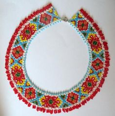 Ожерелье. Украинские орнаменты.