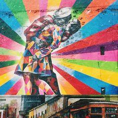 #color #mural #streetart #chelsea #love #valentine #highline #nyc #kiss