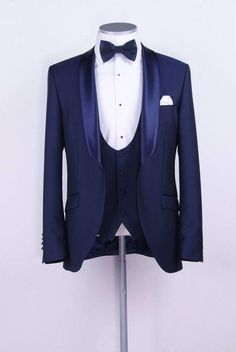 2016 2016 Custom Made Dinner Jacket Midnight Blue Wedding Suits For Men/Bespoke Men Slim Fit Suit Wedding Tuxedos For MenJacket+Pants+Bowtie From Brucesuit, $157.02 | Dhgate.Com