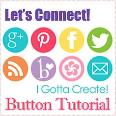 Great tutorial on how to add social media buttons to your blog with a link to a button resource. Via I Gotta Create!