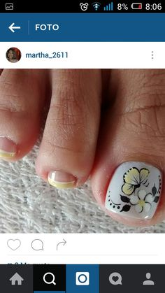 Cute Pedicures, Mani Pedi, Manicure And Pedicure, Toe Nail Color, Toe Nail Art, Nail Colors, Cute Pedicure Designs, Toe Nail Designs, Summer Toe Nails