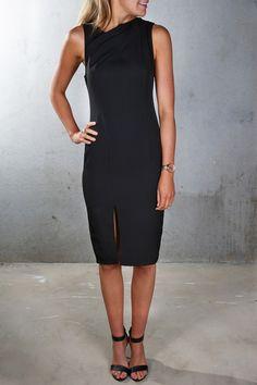 Acapella Midi Dress Black