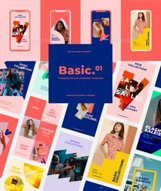 Instagram Stories Animated Templates Social Media Content, Social Media Design, Web Design, Typography Layout, Instagram Story Template, Design Thinking, Branding Design, Animation, Templates