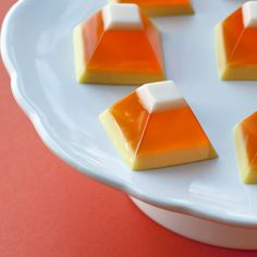 This Candy Corn Jello is adorable not to mention the creamsicle-like blend of the gelatin layers.