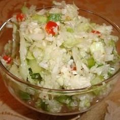 This snappy cabbage slaw has a sweet, tangy dressing flavored with mustard and celery seeds.