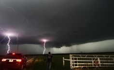 Number 4. Lightning strikes in Oklahoma. Friday's storm has claimed the lives of 16, with the death toll expected to rise.