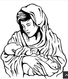 Picture Nativity of Baby Jesus Coloring Page | Kids Play Color ...