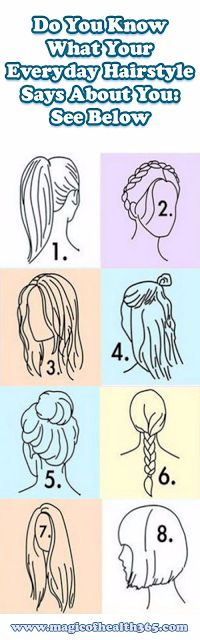 DO YOU KNOW WHAT YOUR EVERYDAY HAIRSTYLE SAYS ABOUT YOU: SEE BELOW