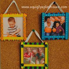 Craft: Popsicle Stick Photo Frames