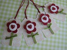 Sweet Little Heart Flower Tags by vsroses.com