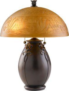 """Glenhaven table lamp from Rejuvenation Hardware, $306! 18"""" high, 14"""" diam."""