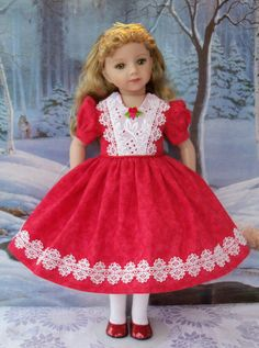 DRESS and SLIP for American Girl Dolls or 20 Maru by Farmcookies
