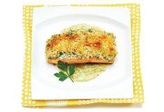Recette Filets de saumon en croûte panko, sauce au yogourt au cari - Coup de Pouce