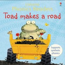 Phonics readers - Toad makes a road - A series of fun stories using very simple synthetic phonic-based text. Synthetic phonic learning is the process of reading by sounding the individual sounds of a word and then blending them together to read the word as a whole.