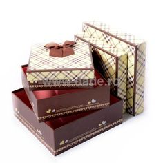 Set 3 cutii de cadou maro in carouri-big Decorative Boxes, Home Decor, Decoration Home, Room Decor, Home Interior Design, Decorative Storage Boxes, Home Decoration, Interior Design