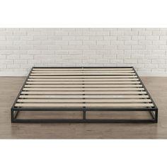 Priage 6-inch Full-Size Metal Platform Bed Frame (Full), Black