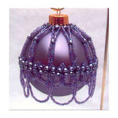 Pattern Beaded Christmas ornament