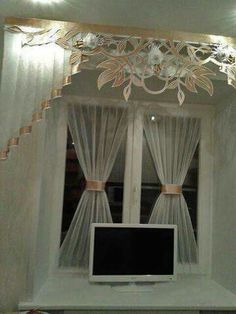 Cortina Curtains And Draperies, Types Of Curtains, Luxury Curtains, Drapes Curtains, Valances, Window Coverings, Window Treatments, Curtain Holder, House Blinds