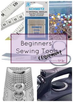 """A while ago I had a lovely reader (Hi Crystal!) asking me suggestions about a """"learning kit"""" to start sewing.  To be honest, it's a kind of question I often am asked: where to start, sewing tips for beginners, which are the best sewing tools and equipment: things like these!  And it's a really good question. I"""