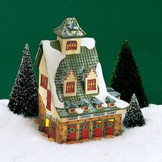 """Department 56: Products - """"Reindeer Barn"""" - View Lighted Buildings"""