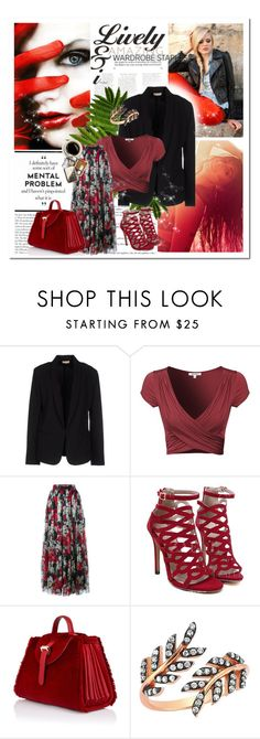 Contest; Colour Series 3/12: Red by lunalobina on Polyvore featuring moda, Maesta, Dolce&Gabbana and Meli Melo