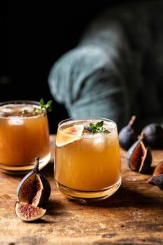 Fig Dark and Stormy. - Half Baked Harvest - - Sweet fig preserves, a generous shot of rum, a squeeze of lemon, and a splash of spicy ginger beer. This Fig Dark and Stormy is the simplest cocktail to make, but so delicious. Beste Cocktails, Fall Cocktails, Fall Drinks, Cocktail Drinks, Cocktail Recipes, Alcoholic Drinks, Beverages, Sweet Cocktails, Bartender Drinks