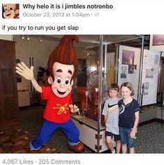 Jimmy neutron slap meme