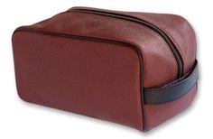 Zumer Sport Football Toiletry Bag Made From Real Football Material #zumersport #footballtoiletrybag #football #toiletrybag