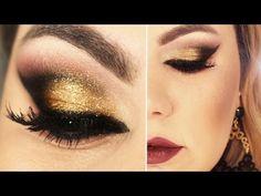 Maquiagem Dourada - http://www.espacomulher.org/maquiagem-dourada/