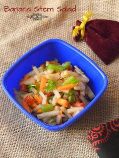 Banana stem salad http://www.upala.net/2015/03/banana-stem-saladvazhai-thandu-salad.html