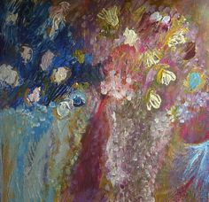 Original Impressionist Abstract Fine Art Painting by TessiluStudio, $19.00