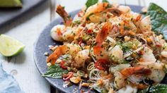 Recipe: Prawn and vermicelli salad with coconut cream, lime and betel leaves   Recipes   Stuff.co.nz