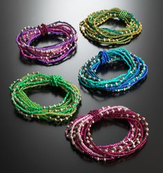 Multi-strand Elasticated Seed Bead bracelet