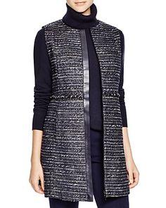Lafayette 148 New York Inez Tweed Vest | Bloomingdale's